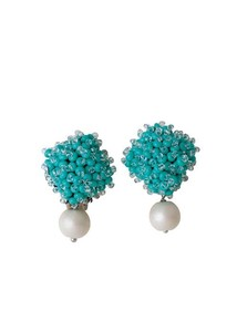 Glass Pearl Beads Earring