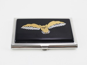 Business Card Case Business Card Case Owl Echizen Lacquerware