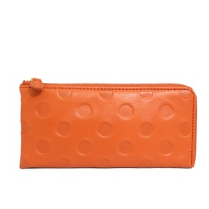 UN SIGNET Leather Dot Long Wallet