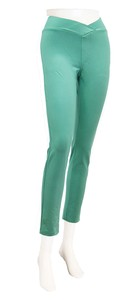 Cropped Pants Skinny Emerald Green