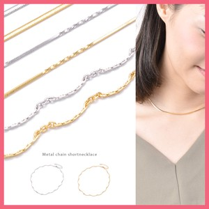 Design Metal Chain Short Necklace
