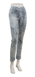 Cropped Pants Skinny Hibiscus Dyeing Marble Gray