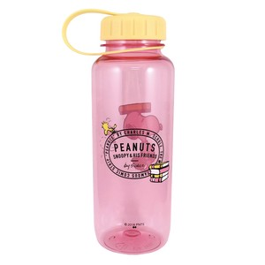 PEANUTS DRINK BOTTLE SCHOOL PINK