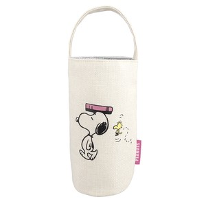 PEANUTS BOTTLE COVER SCHOOL SNOOPY&WOOD STOCK