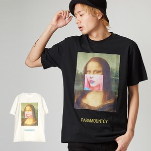 S/S Men's Lady Photo Collage Embroidery Short Sleeve T-shirt