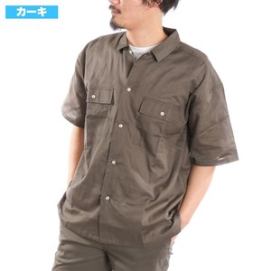 [2019NewItem] Stretch Big Work Shirt Big Silhouette Big Linen