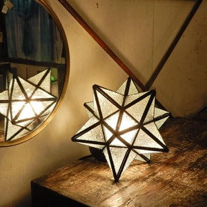 TOPANGA 70's STAR LAMP Small Star Glass Table Lamp デザインガラス