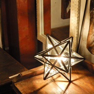 TOPANGA 70's STAR LAMP Small Star Glass Table Lamp クリアガラス