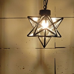 TOPANGA 70's STAR LAMP Small Star Glass Pendant Lamp クリアガラス