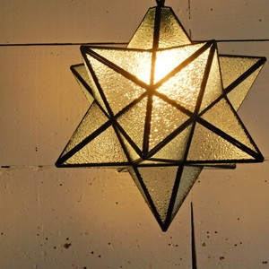 TOPANGA 70's STAR LAMP Big Star Glass Pendant Lamp デザインガラス