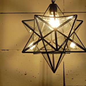 TOPANGA 70's STAR LAMP Big Star Glass Pendant Lamp クリアガラス