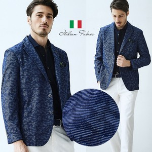 Italy Fabric Dazzle Paint Print Light Jacket