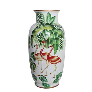 Flamingo Base Flower Vase Pottery Large