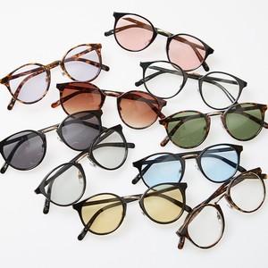 【2019春夏新作】ボストン サングラス メンズ レディース 伊達 メガネ 丸 カラーレンズ 眼鏡 UVカット