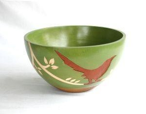 Leather Bird Bowl