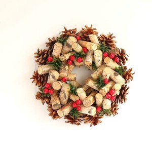 ☆クリスマス/リース☆Wreath-Cut white birch & Pine