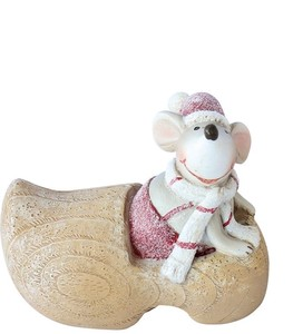 Mouse In Wooden Shoes S
