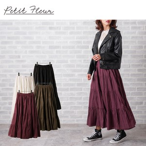 S/S Flare Long Skirt Color