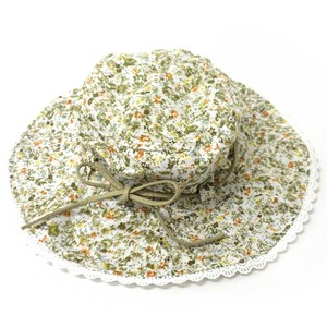Countermeasure Hats & Cap Reversible Flower Lace Hat Ribbon Attached Khaki 2 Colors Assort