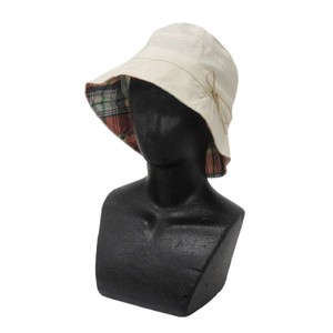 Countermeasure Hats & Cap Ladies for Women Hats & Cap Ribbon Short Hat Checkered Beige
