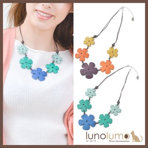 Wood Necklace Ladies Flower Flower Orange Colorful Casual Natural Material