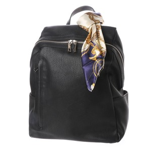 Scarf Attached Fastener Backpack