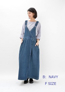 Denim Wrap Overall