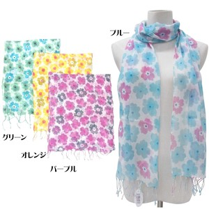 S/S Stole Material S/S Stole Floral Pattern Retro Pop