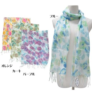 S/S Stole Material S/S Stole Floral Pattern Blur