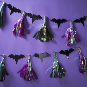 Bat Tassel Garland Halloween