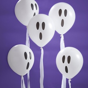 Ghost Cream Balloon Halloween