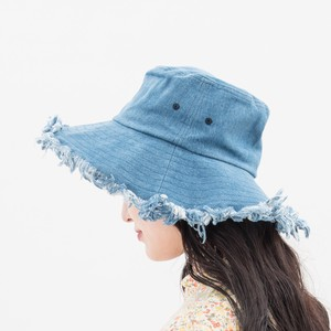 Ladies Kids UV Cut Fringe Denim Hat