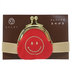 Coin Purse Face Band Attached Red