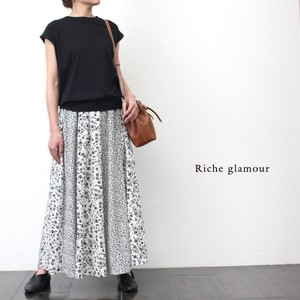 Large Pudding Floral Pattern Pattern Switching Skirt