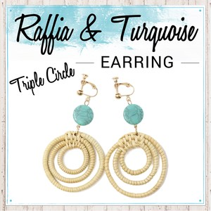 Turquoise Earring Circle Stone S/S Fancy Goods