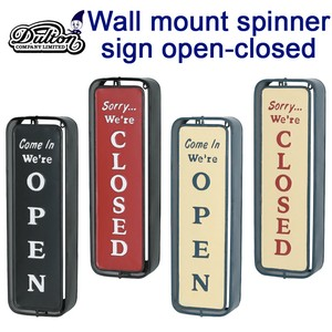 Wall mount spinner sign open-closed