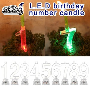 L.E.D birthday number candle