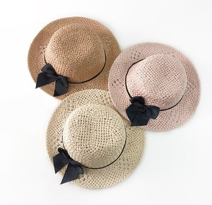 Korea Kids Hand Knitting Straw Peach Hats & Cap