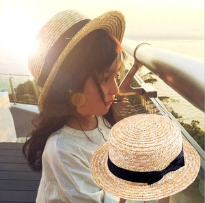Korea Straw Peach Hats & Cap