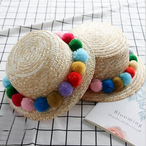 Hats & Cap Kids Straw Peach Bonbon