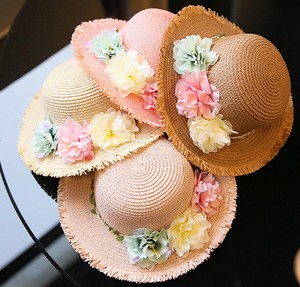 Flower Straw Kids Princess Hats & Cap