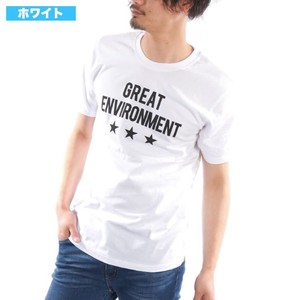 [2019NewItem] Short Sleeve T-shirt Crew Neck Print Print Star Cut And Sewn
