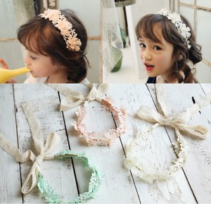 Accessory Kids Headband Hair Band Girl Decoration Flower Flower Lace Pearl