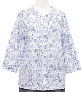 Repeating Pattern Three-Quarter Length Shirt Blouse