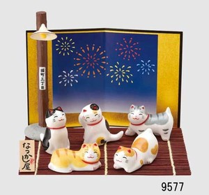 Japanese summer features Ornament Interior Cat Set