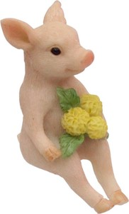 ANIMAL Pig with Flower