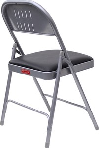 Folding Chair Silver Brown