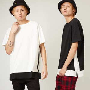 [2019NewItem] Big T-shirt Men's Ladies Big Silhouette T-shirt Cut And Sewn Short Sleeve