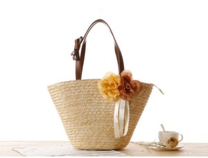 Bag Handbag Shoulder Bag Large capacity Flower Decoration