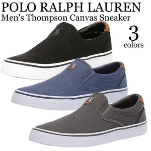 《即納》POLO RALPH LAUREN《2019春夏新作》■スリッポン■Men's Thompson Canvas Sneaker